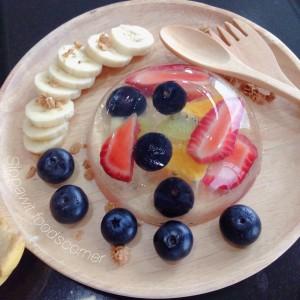 วิธีทำ เค้กหยดน้ำผลไม้ เยลลี่ วุ้น ผลไม้ เบอรี่ เมนูขนมคลีน ขนมหวาน