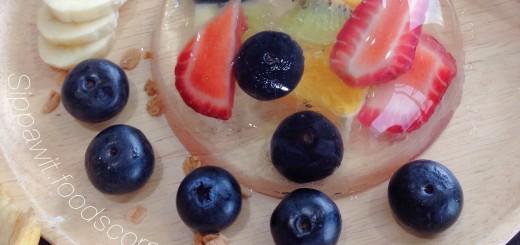เค้กหยดน้ำผลไม้ญี่ปุ่น